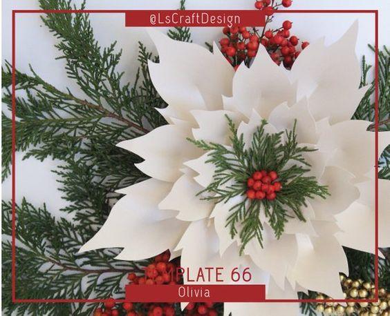 Como hacer Flores de Papel para backdrops de navidad