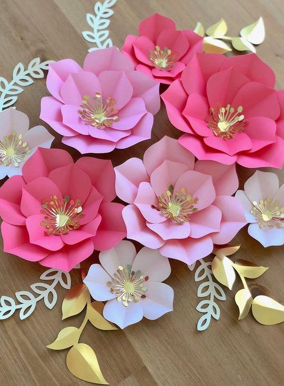 Fotos de Flores de papel gigantes