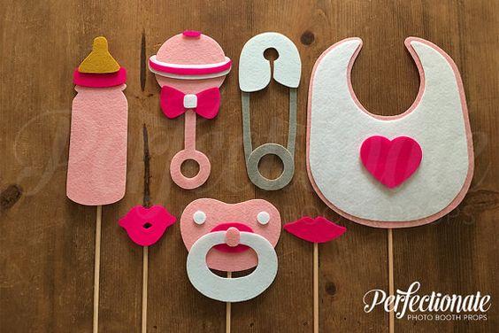 accesorios para fotos photocall baby shower
