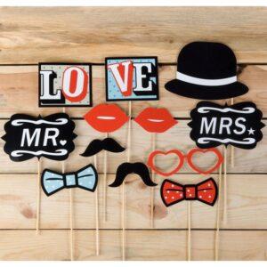 accesorios para fotos photocall en bodas