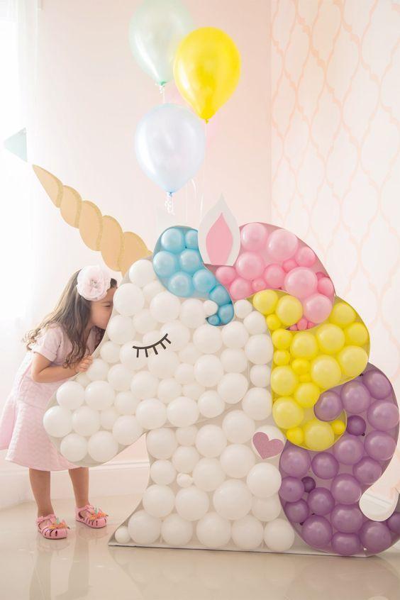backdrops para fiestas de unicornio