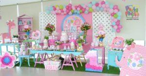 como decorar fiesta de niña 1 año