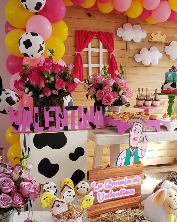 Como decorar mesa de dulces granja de zenon