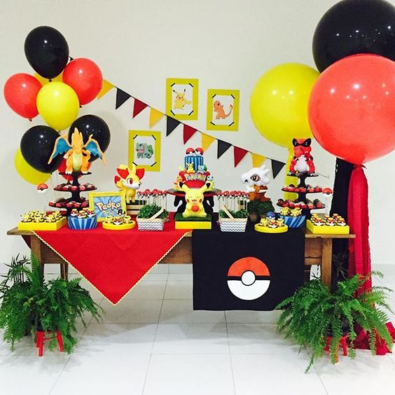 como decorar un cumpleaños de pokemon