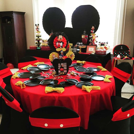 como decorar una fiesta de mickey mouse