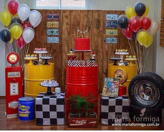 cumpleaños de hombre tematica de carros
