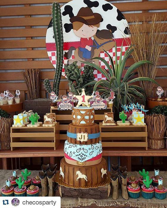cumpleaños infantil de vaqueros para ninos