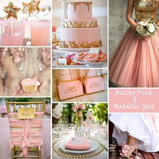 decoracion de fiestas con toques rosa gold