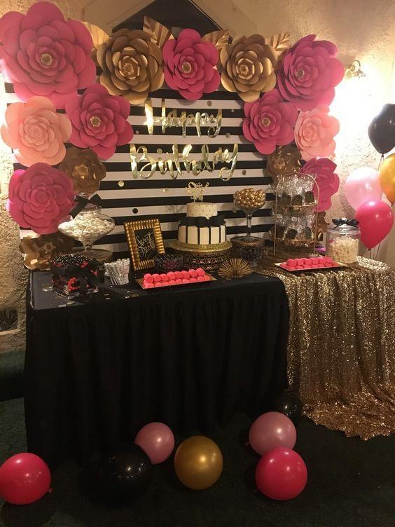 decoracion de fiestas rosa fuscia