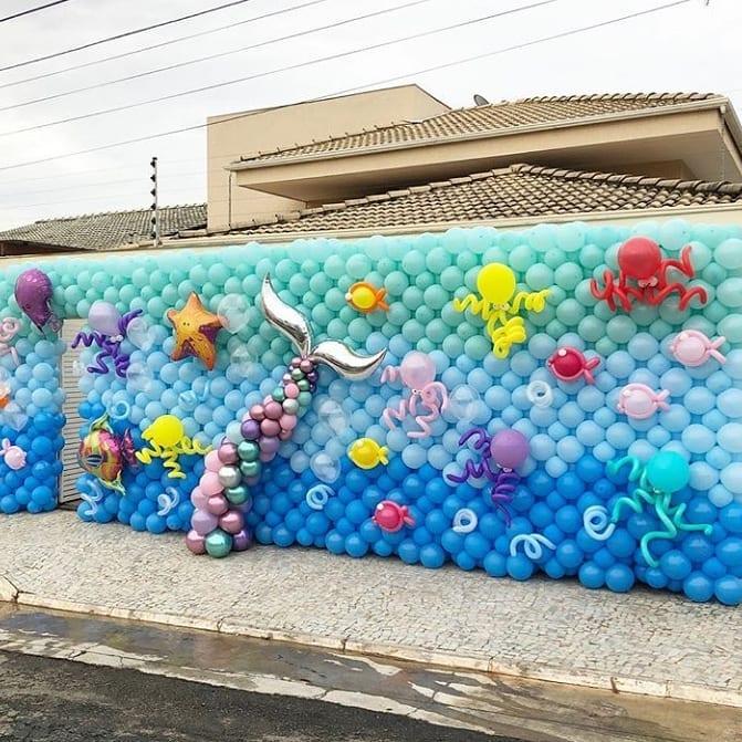 decoracion fiesta sirenita