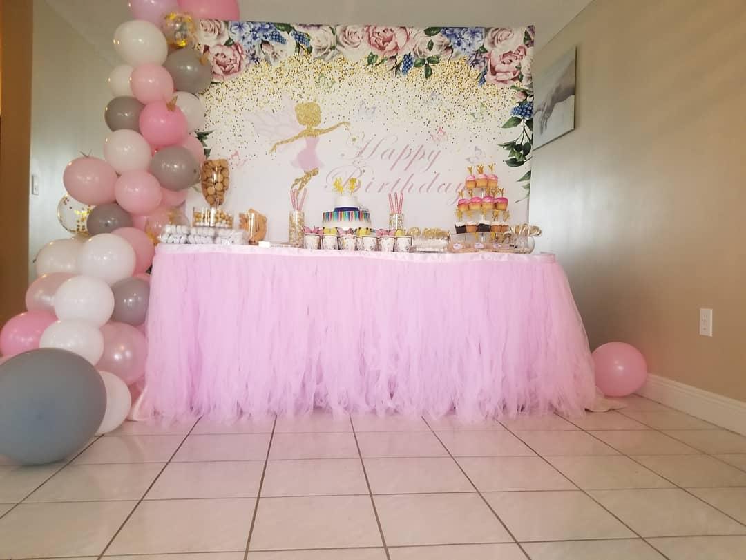 decoracion mesa de pastel para niña