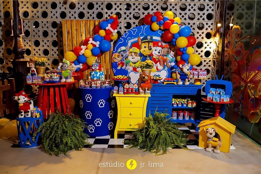 decoracion para fiesta de paw patrol para niño