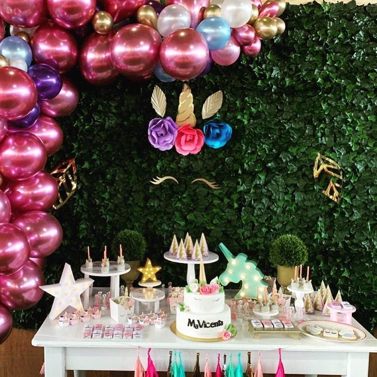 decoracion para fiesta de unicornio