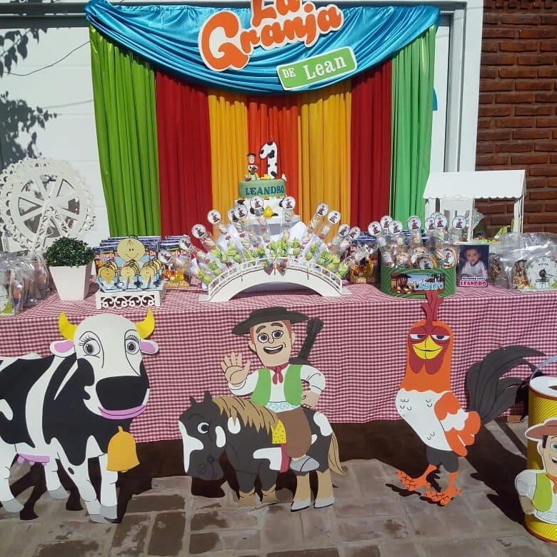 Decoracion para fiesta granja de zenon