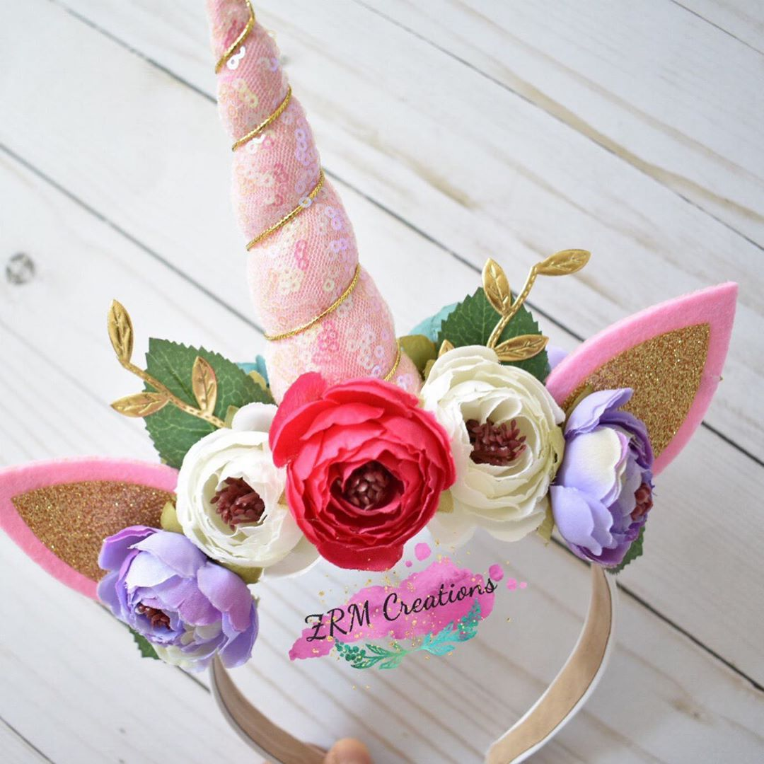 diademas de unicornios modernas para niñas