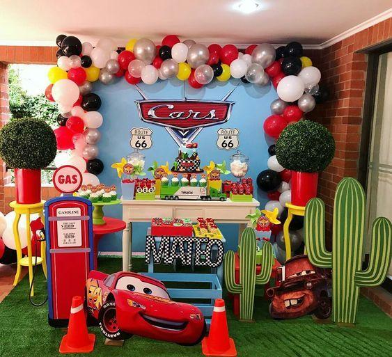 fiesta de cars para niños
