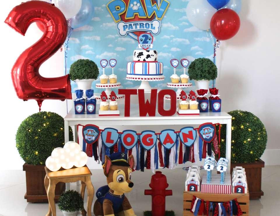 Decoración de mesa principal Paw Patrol para cumpleaños