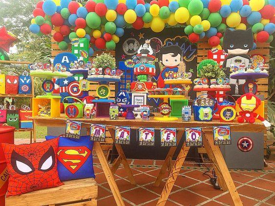 fiesta infantil de avengers