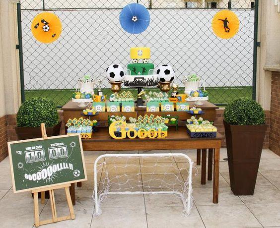 fiesta infantil tematica de fut bol para niños