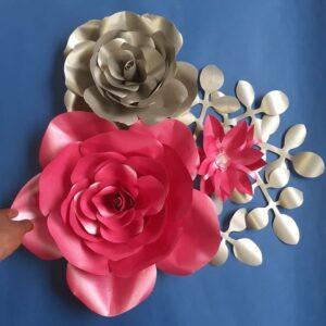 flores de papel para fiestas