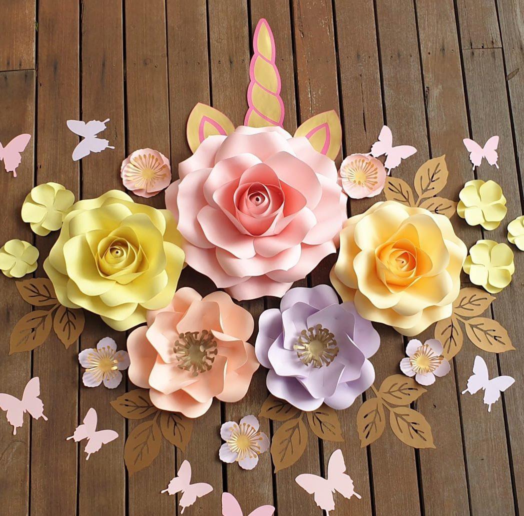 ideas como hacer flores de papel gigantes