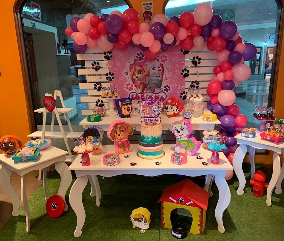 ideas para fiesta de paw patrol para niña