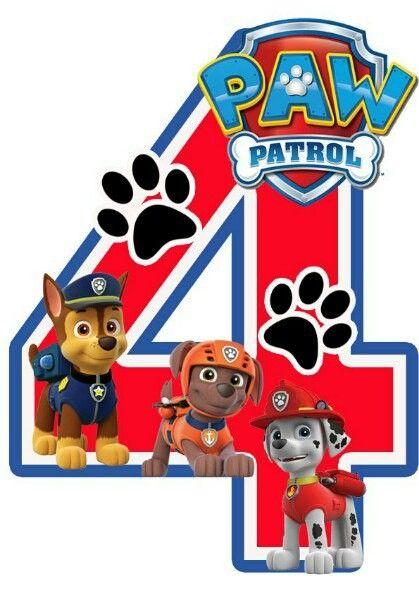 Imprimibles para fiesta de paw patrol
