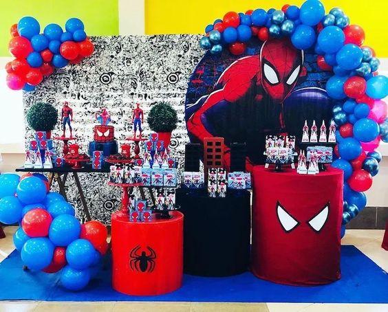 mamparas para fiestas de spiderman