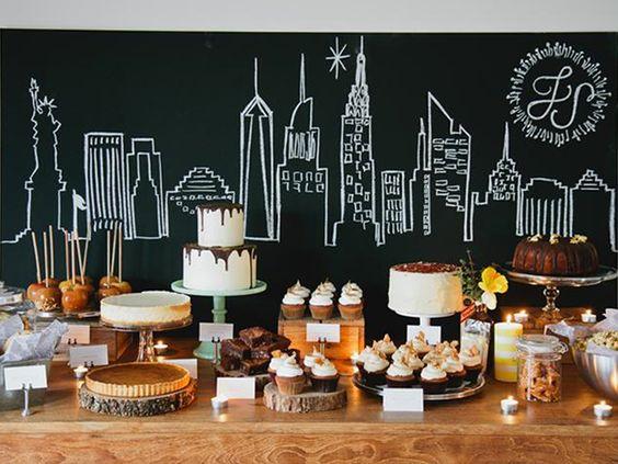 mesa de dulces para cumpleaños de adultos