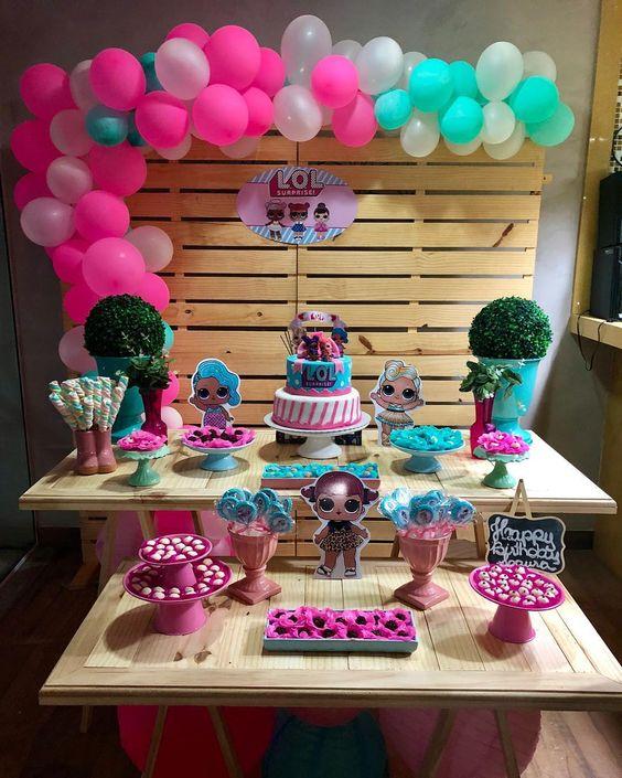 mesa de dulces para fiestas infantiles