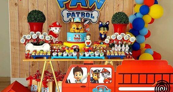 mesa principal de paw patrol para nino