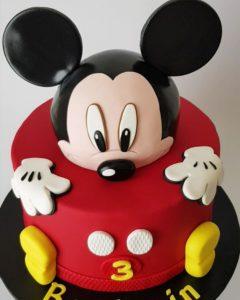 pastel de cumpleaños de mickey mouse