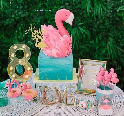 Temas de fiesta para niña de flamingos