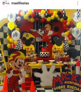 tematica para fiestas mickey sobre ruedas