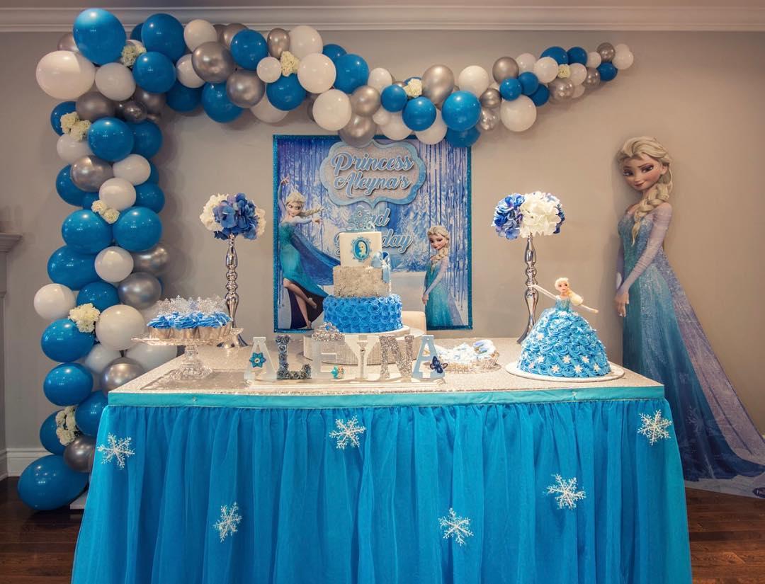 Temática fiesta infantil niña Frozen