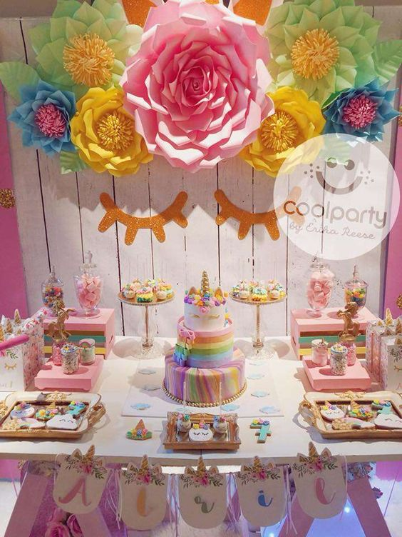 bases para cupcakes de unicornio