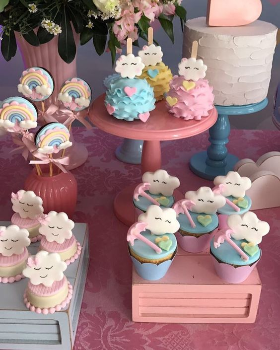 bases para cupcakes para bautizo