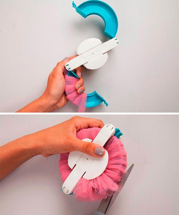 como hacer guirnaldas de pompones