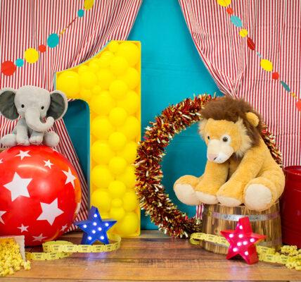decoracion con globos técnica mosaico del circo