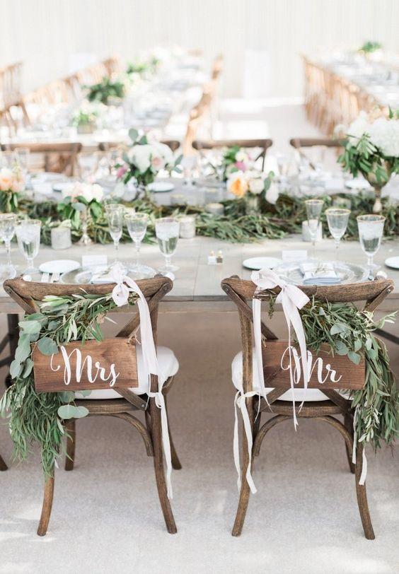 decoracion de sillas para bodas