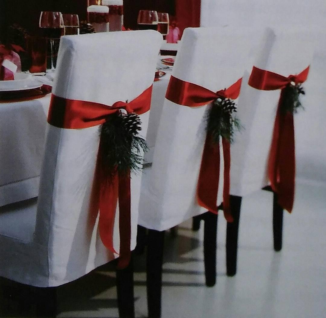 decoracion de sillas para fiestas y eventos para navidad