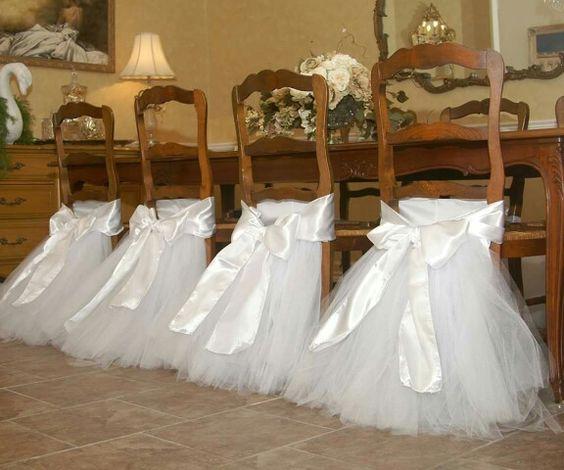 decoracion sillas primera comunion