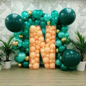 Decoracion técnica mosaico con globos