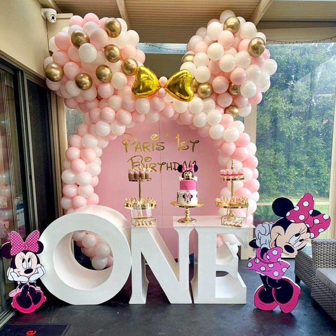 Fiesta De Minnie Mouse Rosa Y Dorado Ideas Para Las