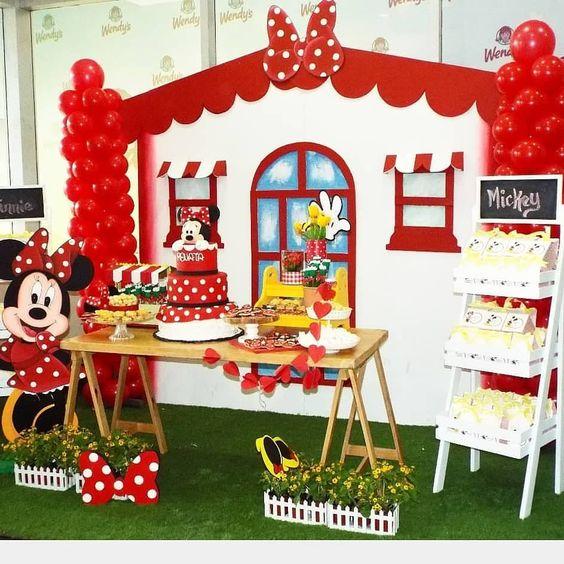 Fiesta Infantil Tematica De Minnie Mouse Ideas Para Las Fiestas Infantiles Para Mujeres Hombres 15 Años Y Bodas