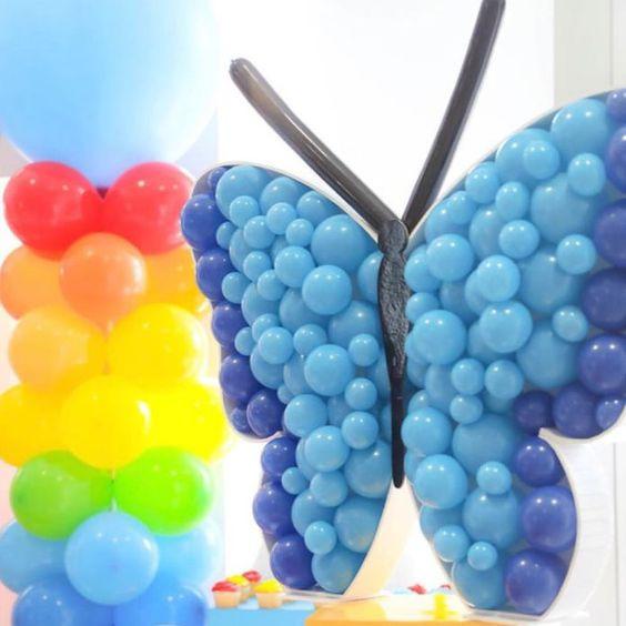 Ideas de decoracion con globos técnica mosaico