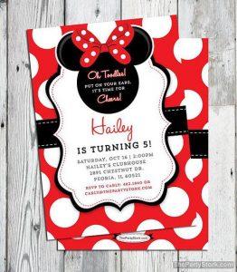 invitaciones para fiesta de minnie