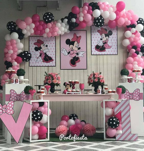 Mesa Principal Baby Shower.Mesa Principal De Minnie Ideas Para Las Fiestas Infantiles
