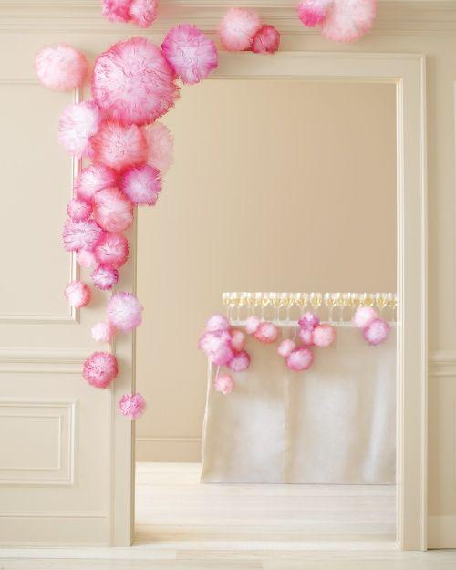 pompones de tul para backdrops