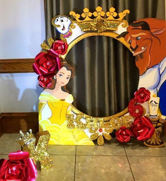 Backdrops para fiestas de la bella y la bestia